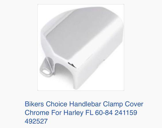 Bikers Choice Handlebar Clamp Cover Chrome For Harley FL 60-84 241159 492527