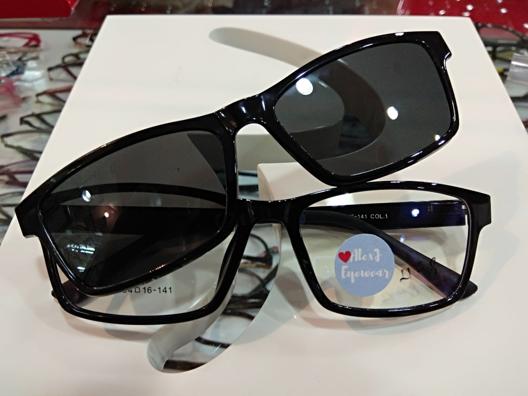 f2a29e5c80 High quality Ultem plastic frame with PC magnetic clip on polarized UV400  shade