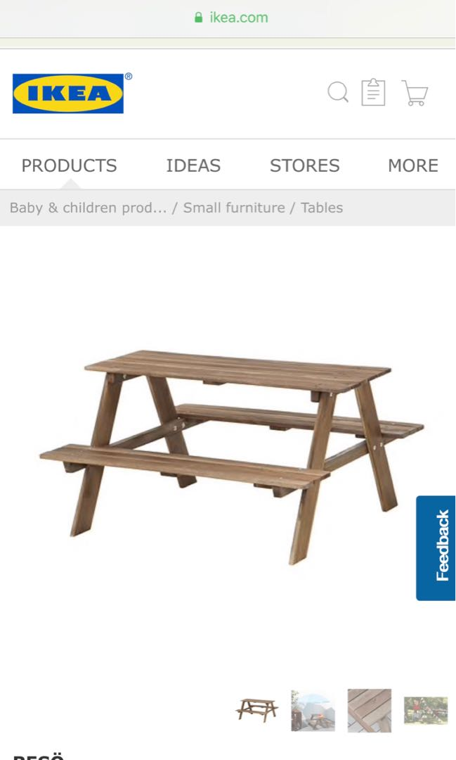 880a652f9d IKEA Reso Children's Picnic Table, Furniture, Tables & Chairs on ...