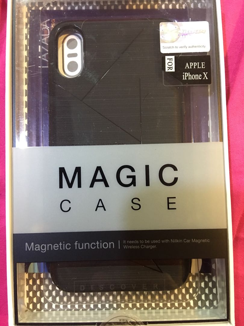 best sneakers fc0e1 75a55 IPhone X/XS Nillkin Magic case with magnetic function.