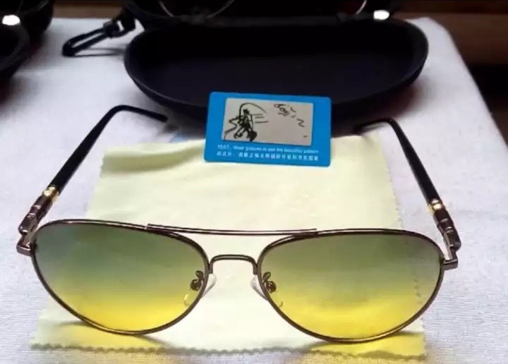 Kacamata Aviator HD Polarized Anti silau Siang Malam 780ddfb03f