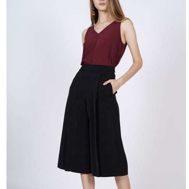 b182cba620 MDS Pleated Culottes in Black
