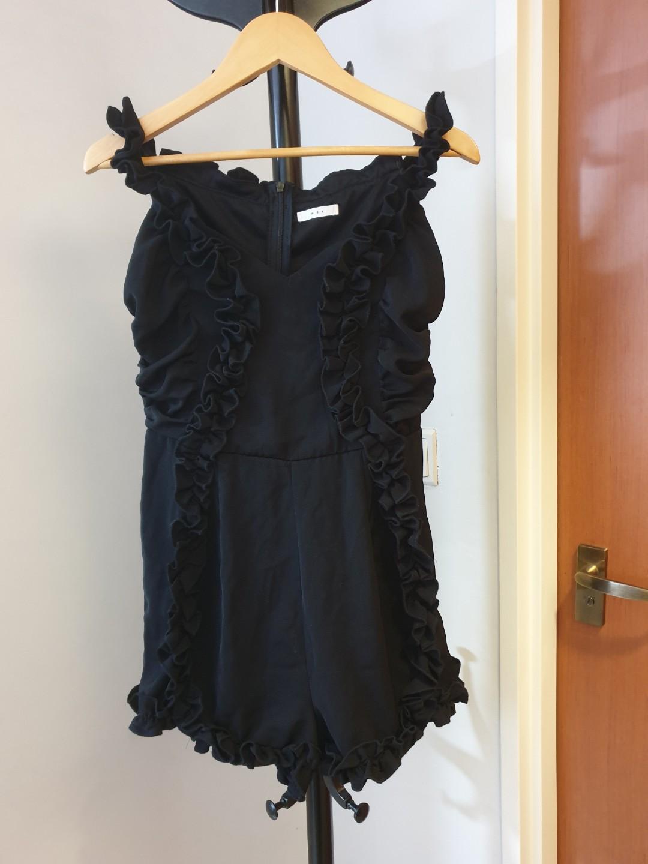 73c93f2e6e54 MDS Romper Suits Ruffles Black Jumpsuit Size Small Mint Condition ...