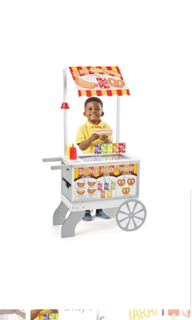Melissa Doug Wooden Snacks And Sweets Food Cart 40 Play