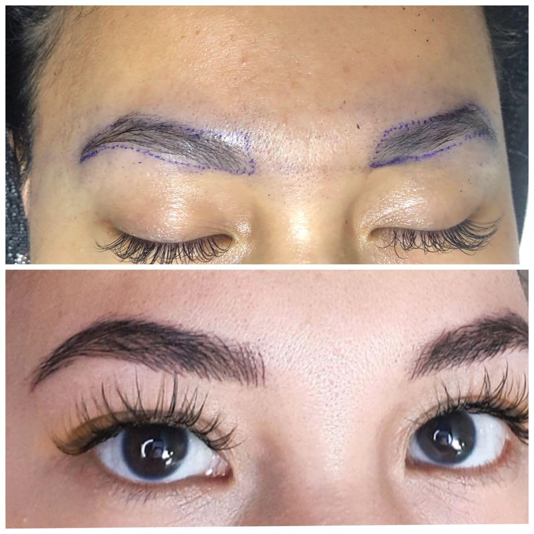 Nails and eyelashes extensions