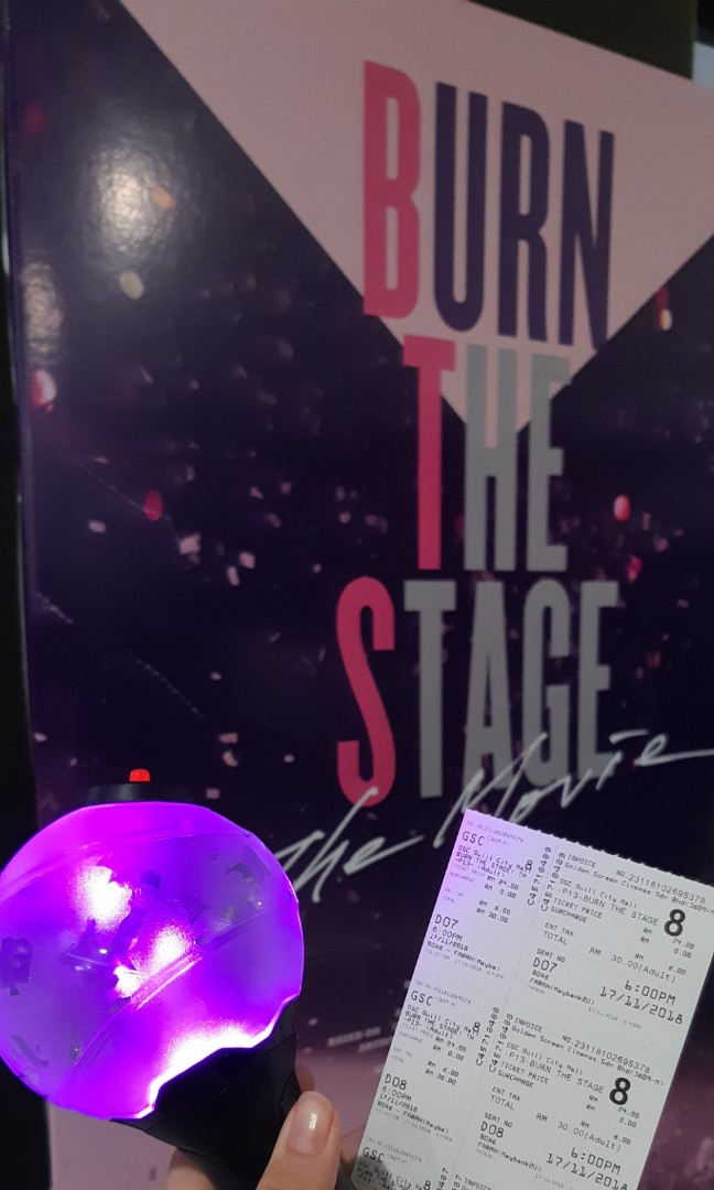 Entertainment Memorabilia BTS BURN THE STAGE Movie Ticket