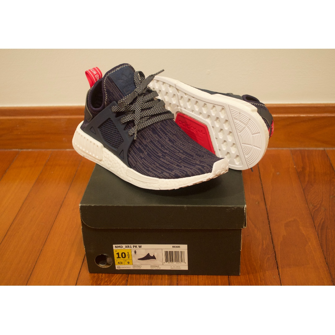 7e4a4c681 ONLY  150!!!! RARE Adidas NMD XR1 GLITCH NAVY pk og tri color triple ...
