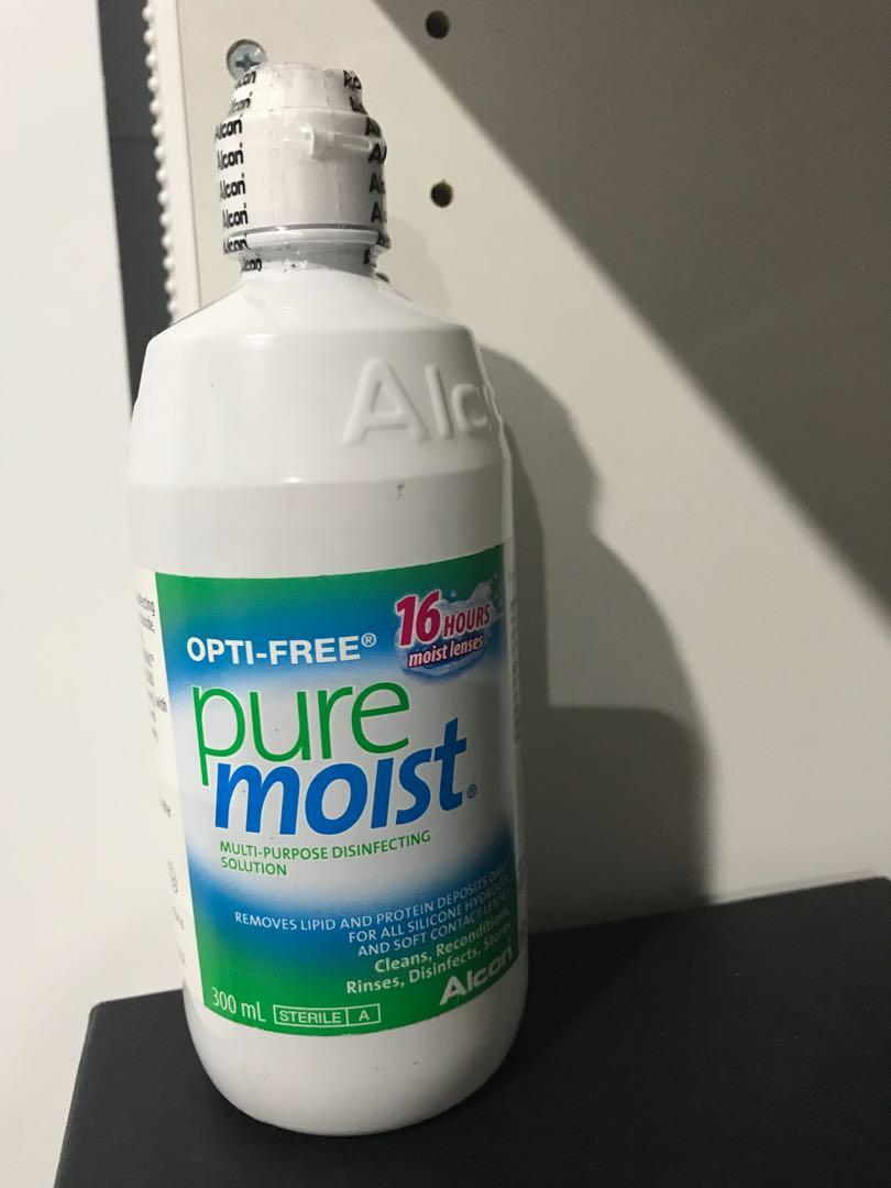 OPTI-FREE pure moist multi purpose lenses disinfectant solution brand new sealed