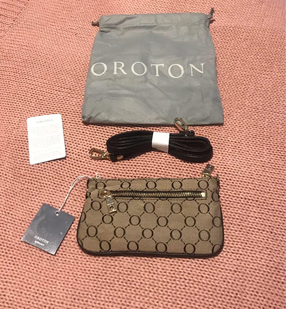 Oroton Baux Sig Clutch Bag