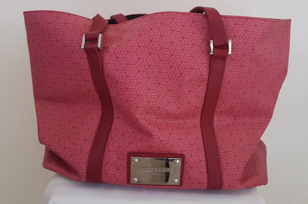 8b2797f1481 PIERRE BALMAIN PARIS red shopping bag on Carousell
