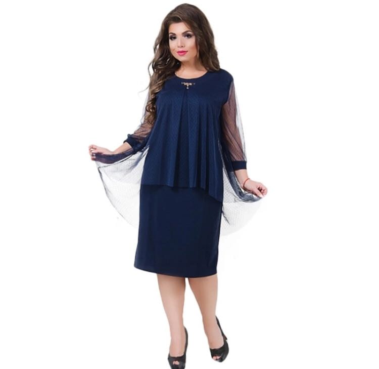 344fc73dc1d47 PO) XXL-6XL 2018 Winter Dress Christmas Plus Size Women Dress ...
