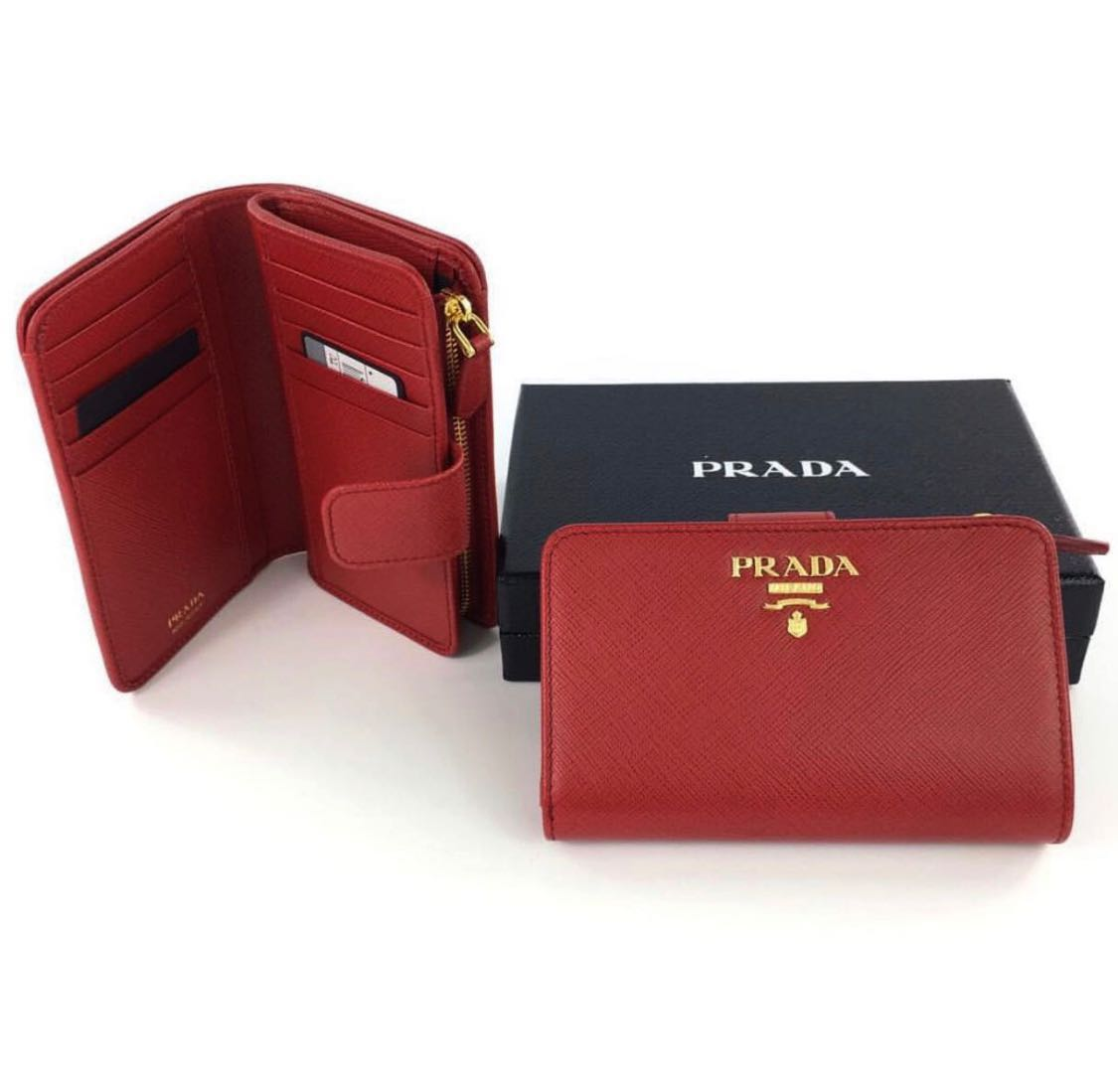 c9a03751e8c2 Prada wallet [SALE], Luxury, Bags & Wallets, Wallets on Carousell