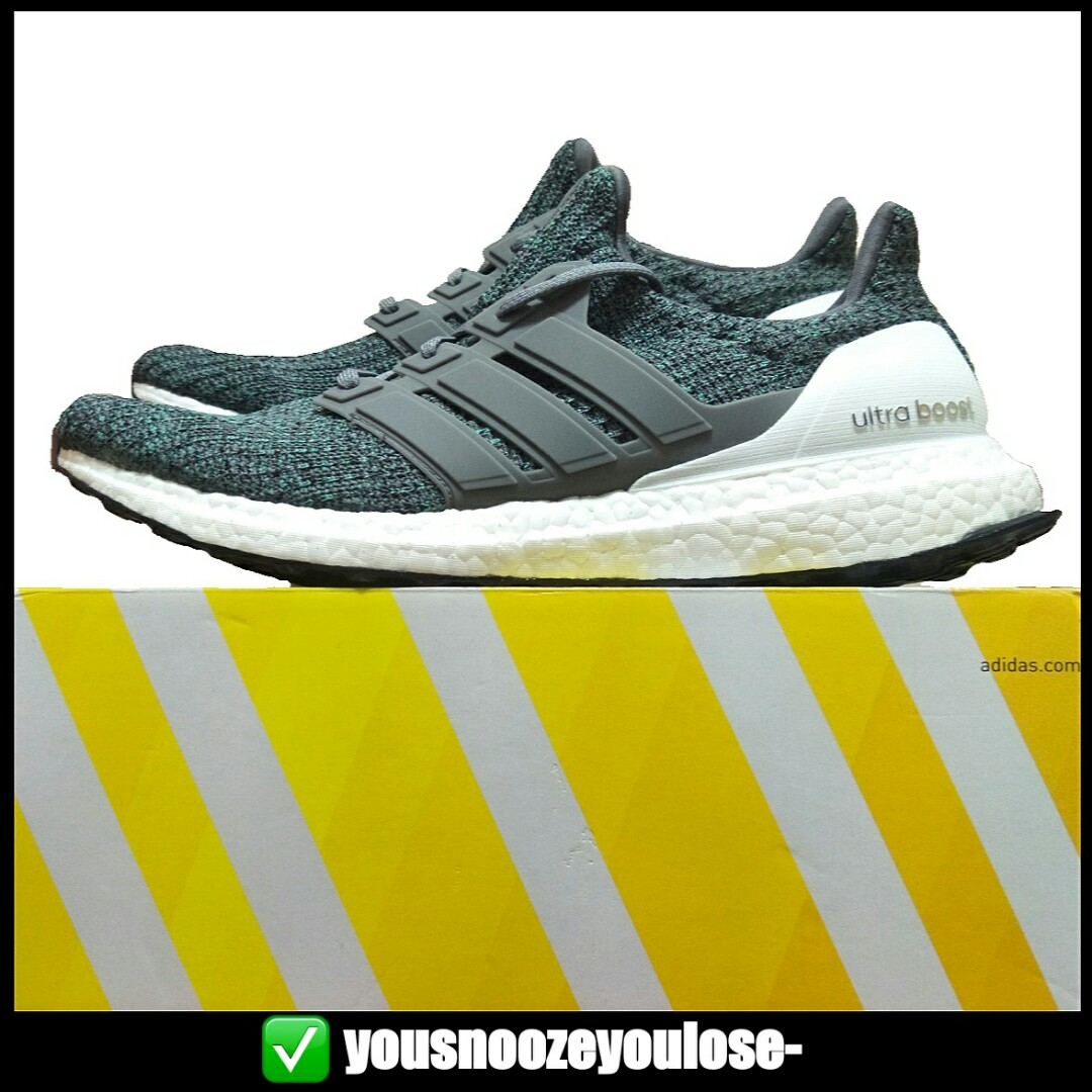 new style 9daed d8870 [PREORDER] ADIDAS ULTRA BOOST ULTRABOOST 4.0 GREY FOUR HI RES GREEN WHITE