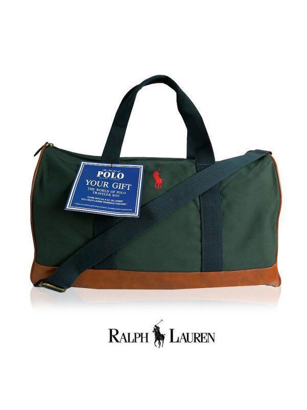 93858d213a24 💥SALE! RALPH LAUREN DUFFLE WEEKENDER   TRAVEL BAG (DARK GREEN) FOR ...