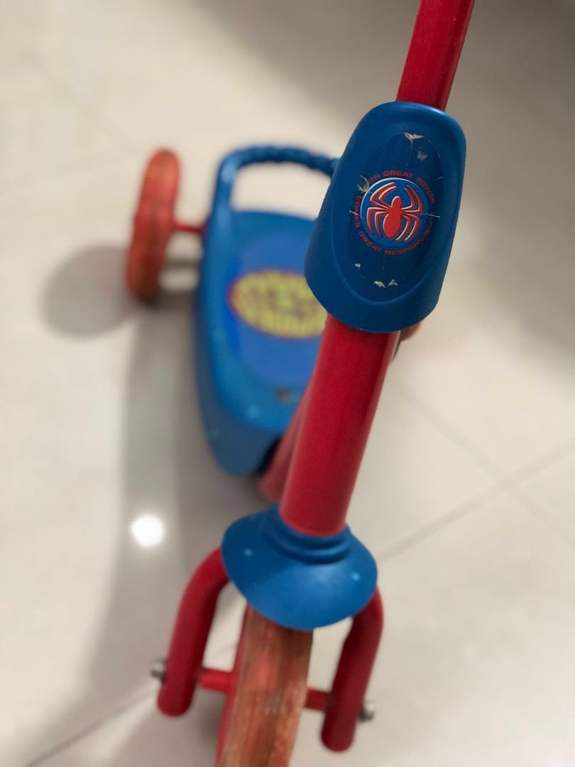 Spider Man Kids Scooter Babies Kids Toys Walkers On Carousell