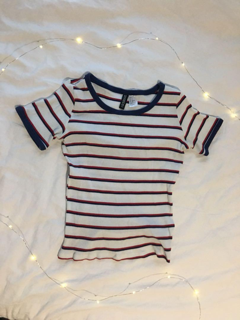 Striped shirt (navy red white)