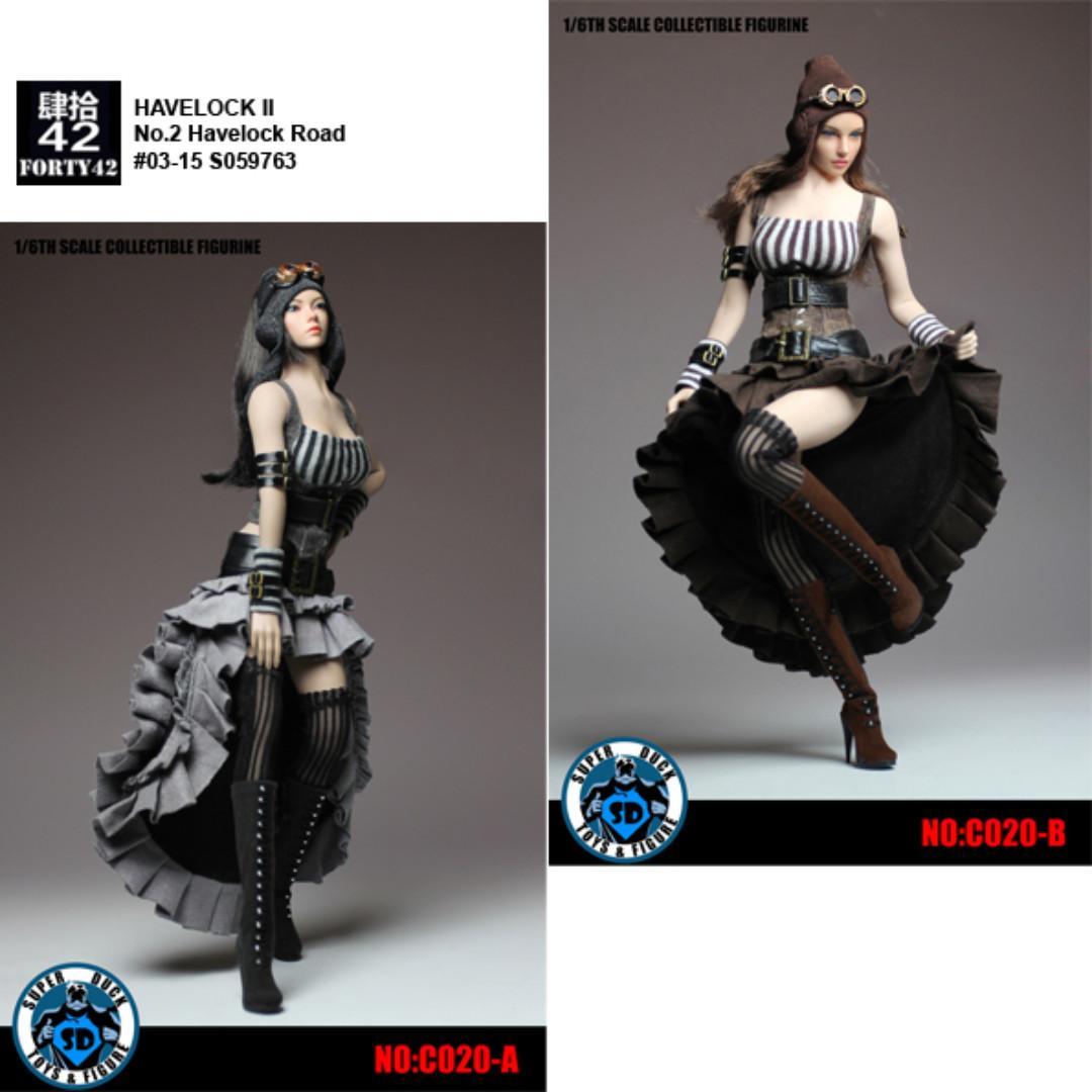 SUPER DUCK C020 1//6  Female Steam Punk Dress Clothes Set Fit 12/'/' Figure