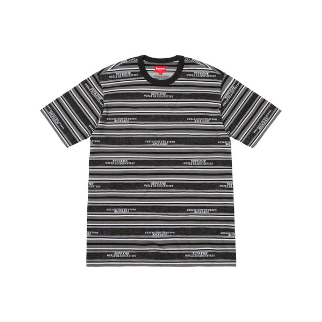4e9838d6 Supreme HQ Stripe S/S Top, Men's Fashion, Clothes, Tops on Carousell