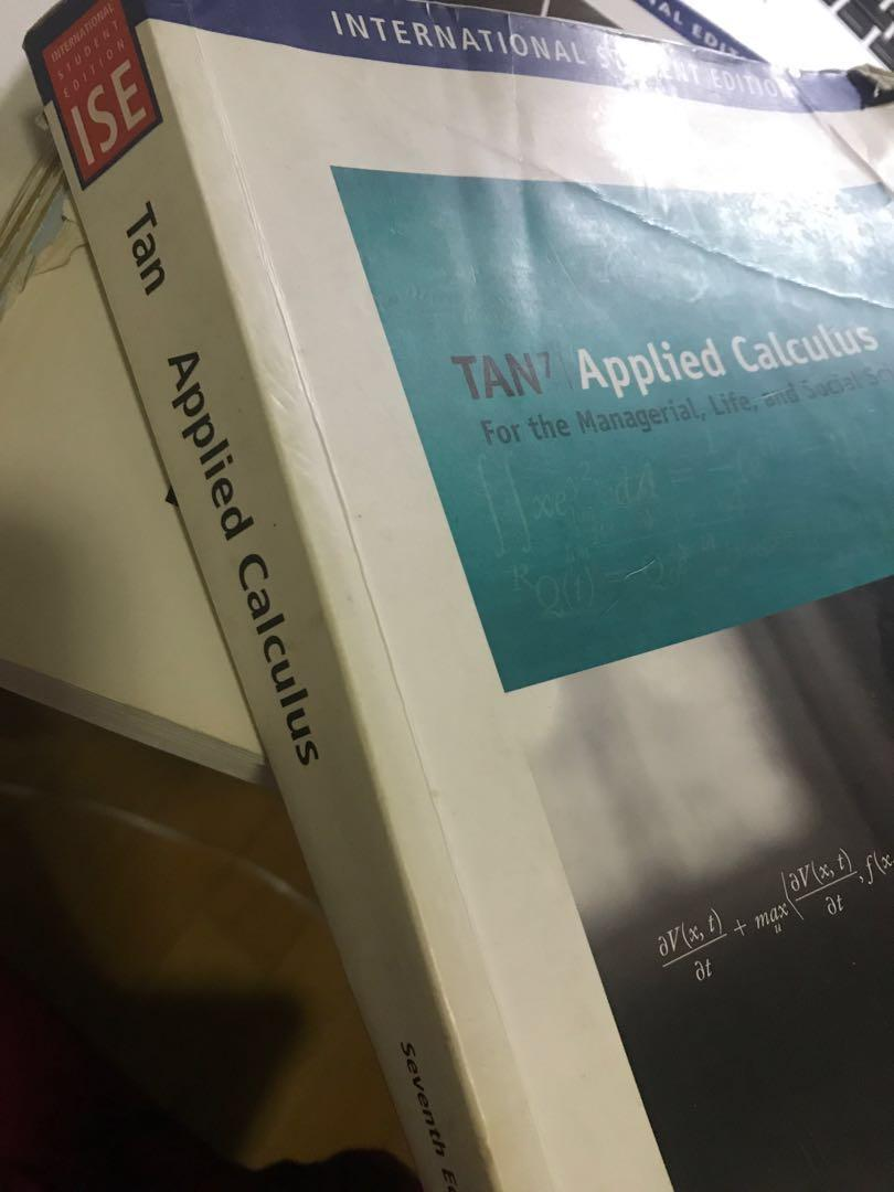 Tan Applied Calculus seventh edition