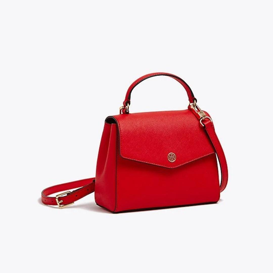 7470c172e9 Tory Burch ROBINSON SMALL TOP-HANDLE SATCHEL, Women's Fashion, Bags ...