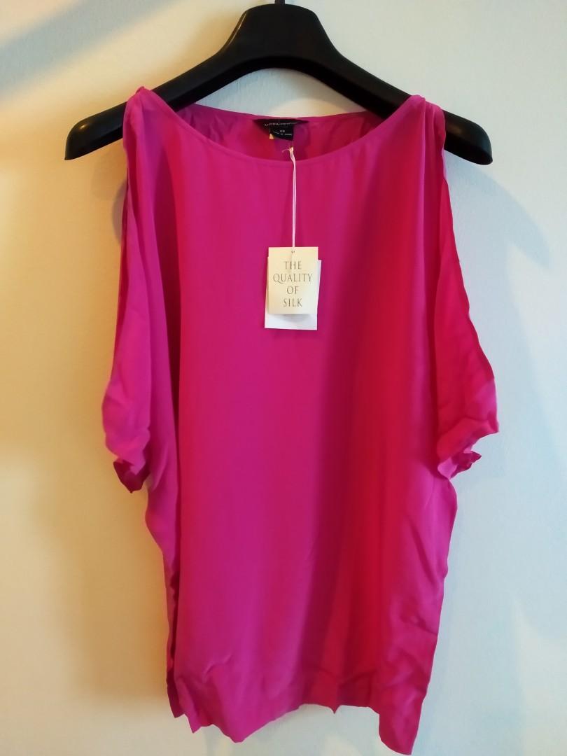 aa51300d8b946a Victoria s Secret - 100% Silk Cold-Shoulder Top - XS