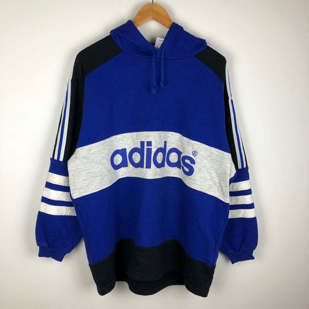 nouvelle collection 6905a 49113 VINTAGE ADIDAS PULL OVER HOODIE SPELLOUT MULTICOLOR DESIGN