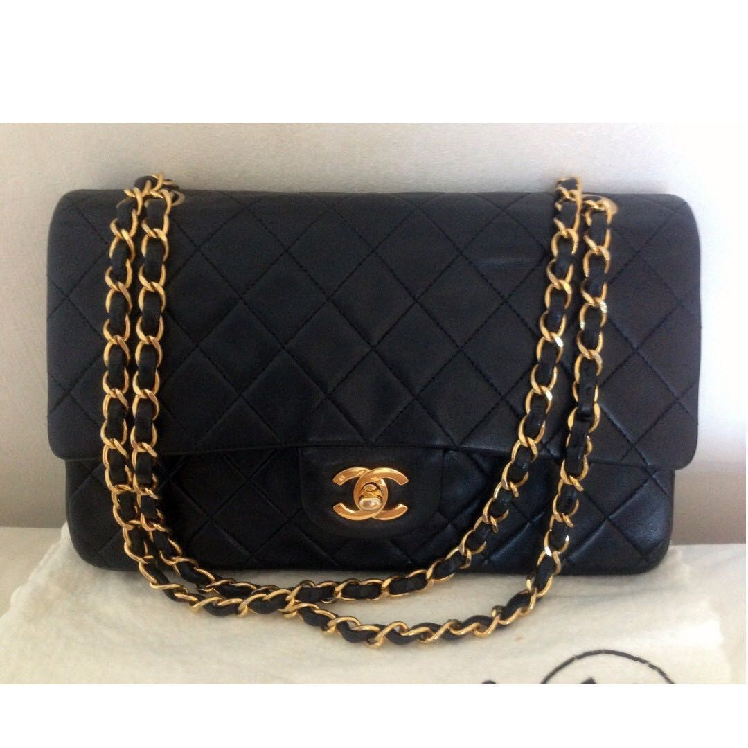 bcc7bff130c341 Vintage Chanel Classic Flap 2.55 (10 Inch Lambskin), Luxury, Bags ...