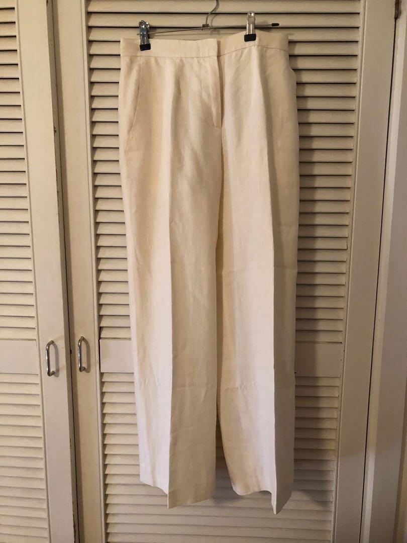 Vintage Max Mara white linen pants