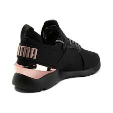 24e31d7f56c Womens Puma Muse Metal Athletic Shoe Black Rose Gold