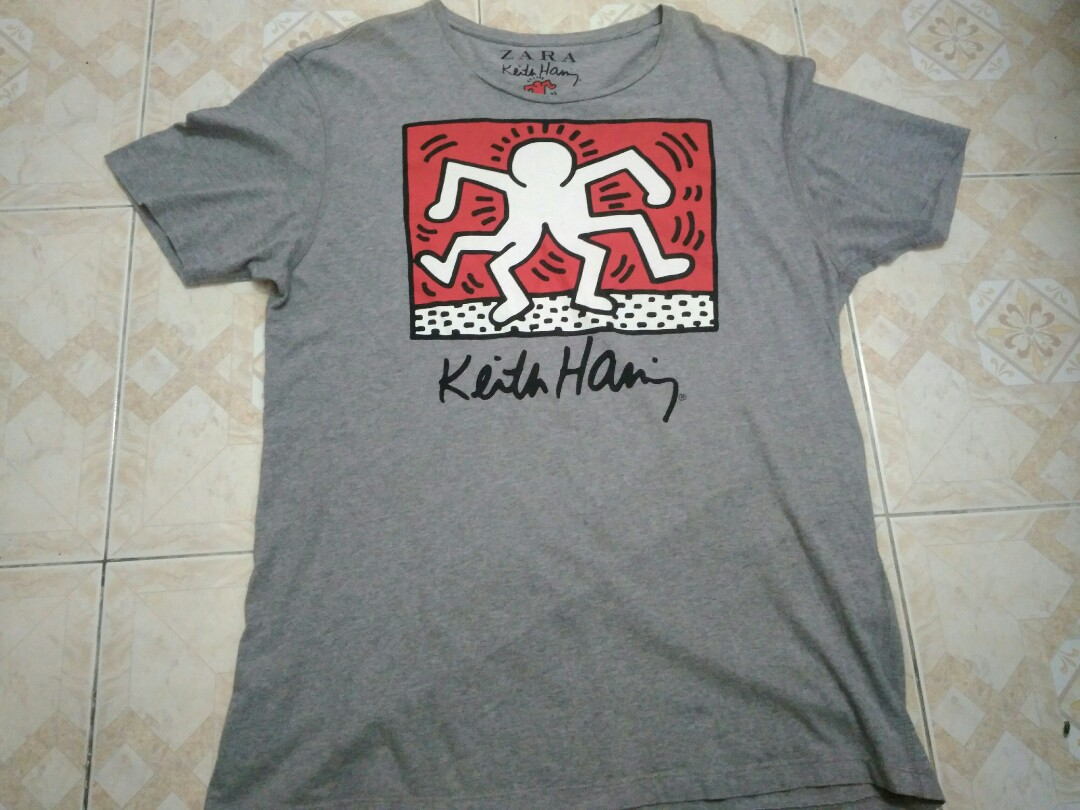 d4c6a65c Zara x Keith Haring, Men's Fashion, Clothes, Tops on Carousell