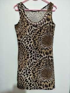 Dress thanktop leopard