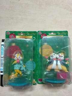 🚚 迪士尼 奇奇與蒂蒂 克莉絲聖誕樹 吊飾 公仔 組