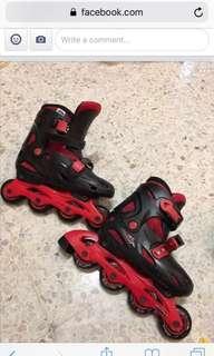 Ref & black skates