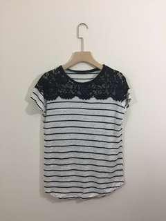 Zara lace top size M