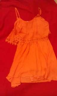 Short orange dress