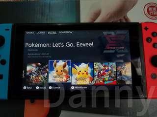 switch 128G pokemon 比卡丘 伊布 行貨有保養