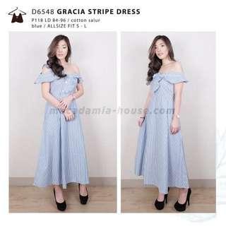 Gracia Stripes Dress blue (Macadamia House)