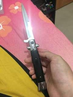 檀木柄彈簧刀