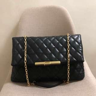 Zara Woman Quilted Leather Chain Bag