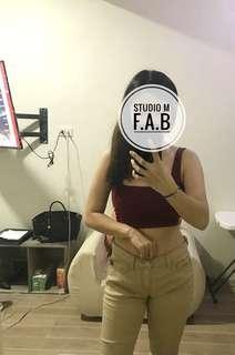 F21 midwaist khaki pants