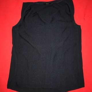 G2000 Knit-like front and chiffon back dark blue XS