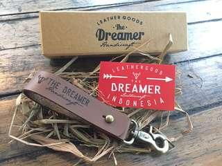 The Dreamer Leather Keychain