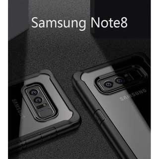 Samsung Galaxy Note 8 transparent bumper case protection