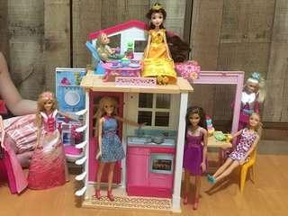 Barbie 2 story doll house