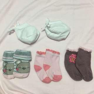 PRE-LOVED SOCKS/BOOTS 0-3mos