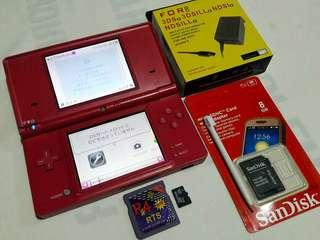 Nintendo DSI Pink R4 8gb 105 games installed