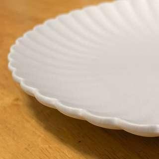 🚚 全新 日式 磨砂 素燒 菊紋 陶盤 餐盤 點心盤 直徑20公分