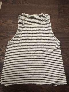 ALL SAINTS striped tank top