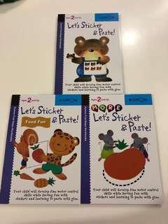 BN Kumon Let's Sticker & Paste (3Books)