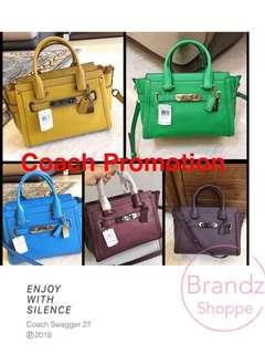 💝Special Sale! 💯% ORI Coach Woman Medium Swagger 27 Crossbody Handbag @ Pre-Order